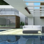 Luxury modern mansion exterior