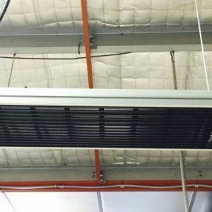Infrarouge rayonnant HEATSCOPE SPOT pour les ateliers, entrepôts... Suspendus au-dessus d'un postes de travail ou l'on stationne longuement