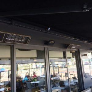 Chauffage extérieur professionnel basse consommation en aluminium pour terrasse