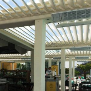 infrarouge-blanc-outdoor-heatscope-france-sous-pergola-bioclimatique-pole-habitat-biossun
