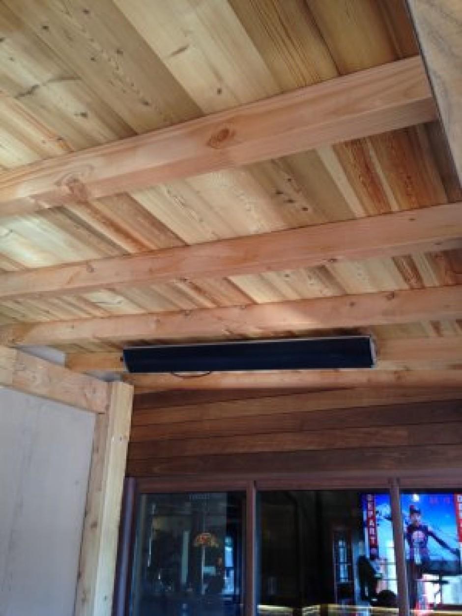 fixation du radiateur ir sur un plafond en bois heatscope france sp cialiste chauffage. Black Bedroom Furniture Sets. Home Design Ideas